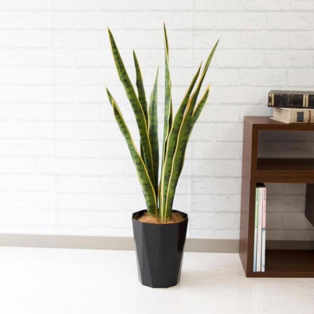【PG145 サンセベリア H約85cm /ポリプロピレン鉢】人工観葉植物 造花 フェイクグリーンインテリア アーティフィシャルグリーン