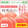 全国送料無料 特秀品の桃12〜15個入り(4kg箱)