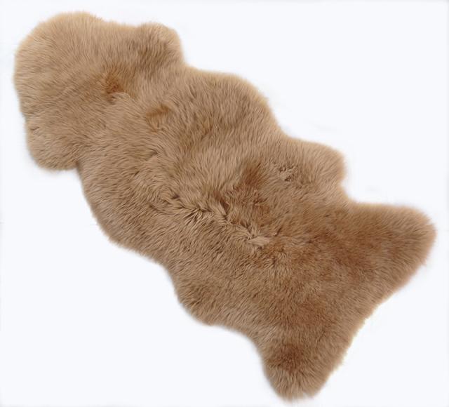 ムートン 長毛 ラグ 1.5 匹物 シープスキン 天然 ラムスキン 100% 大判 ブラウン L/W95-1.5UMBER 4571448617045