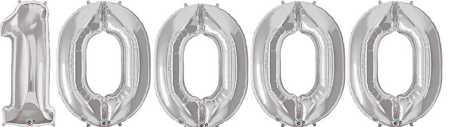 「10000」ナンバーバルーン ビッグ【90cm】セット