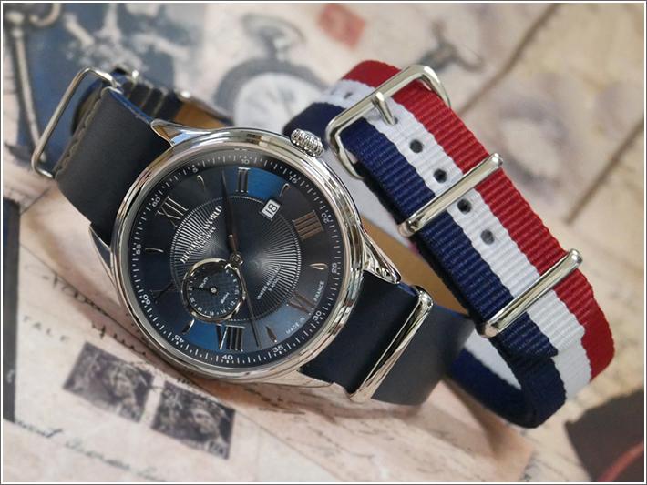 ハンティングワールド HUNTING WORLD 腕時計 HWG010SBL テキスタイル替ベルト付 レザーベルト クォーツ