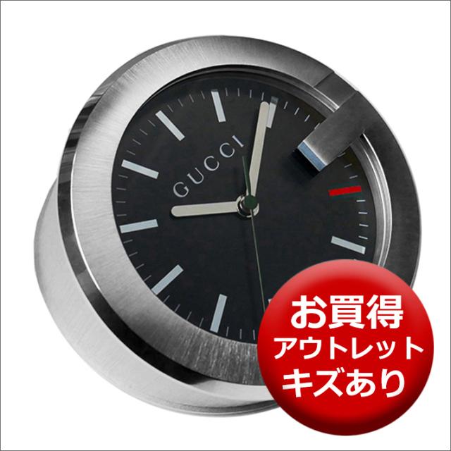 【キズあり・アウトレット品】グッチ GUCCI 置時計 (テーブルクロック/デスククロック) YC210004