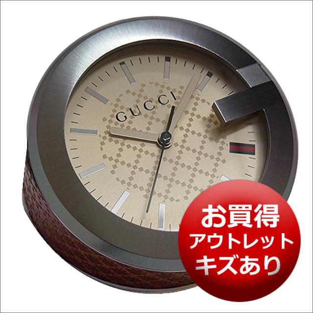 【キズあり・アウトレット品】グッチ GUCCI 置時計 (テーブルクロック/デスククロック) YC210005