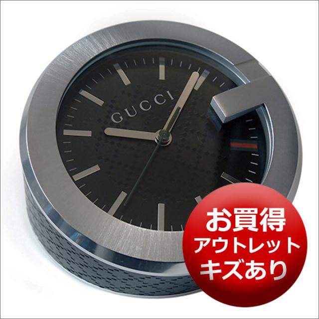 【キズあり・アウトレット品】グッチ GUCCI 置時計 (テーブルクロック/デスククロック) YC210006