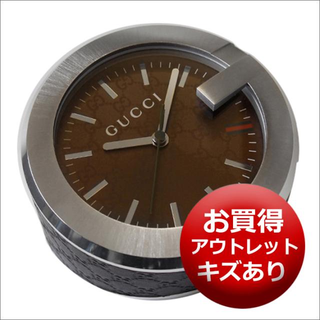 【キズあり・アウトレット品】グッチ GUCCI 置時計 (テーブルクロック/デスククロック) YC210007