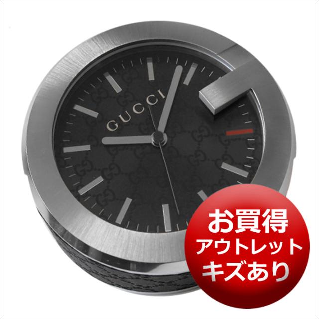 【キズあり・アウトレット品】グッチ GUCCI 置時計 (テーブルクロック/デスククロック) YC210008