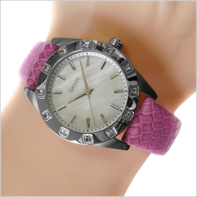 DKNY ダナキャランニューヨーク 腕時計 NY8787 レザーベルト
