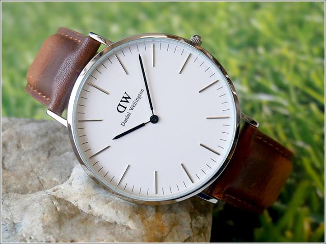 ダニエル ウェリントン DANIEL WELLINGTON 腕時計 DW00100110 DW00600110 シルバー 40mm CLASSIC DURHAM クラシック ダラム