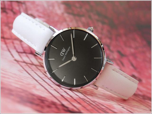 ダニエル ウェリントン DANIEL WELLINGTON 腕時計 DW00100286 DW00600286 シルバー 28mm PETITE BONDI ペティット ボンダイ ブラック
