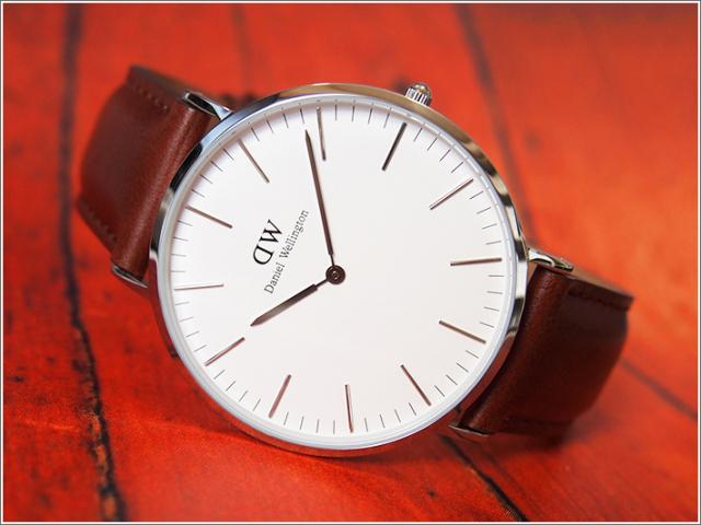 ダニエル ウェリントン DANIEL WELLINGTON 腕時計 DW00100021 DW00600021 シルバー 40mm CLASSIC ST MAWES クラシック セントモース 0207DW