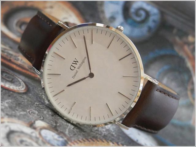 ダニエル ウェリントン DANIEL WELLINGTON 腕時計 DW00100023 DW00600023 シルバー 40mm CLASSIC BRISTOL クラシック ブリストル