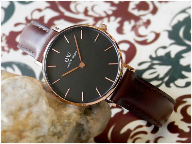 ダニエル ウェリントン DANIEL WELLINGTON 腕時計 DW00100165 DW00600165 ローズゴールド 32mm CLASSIC BRISTOL クラシック ブリストル ブラック