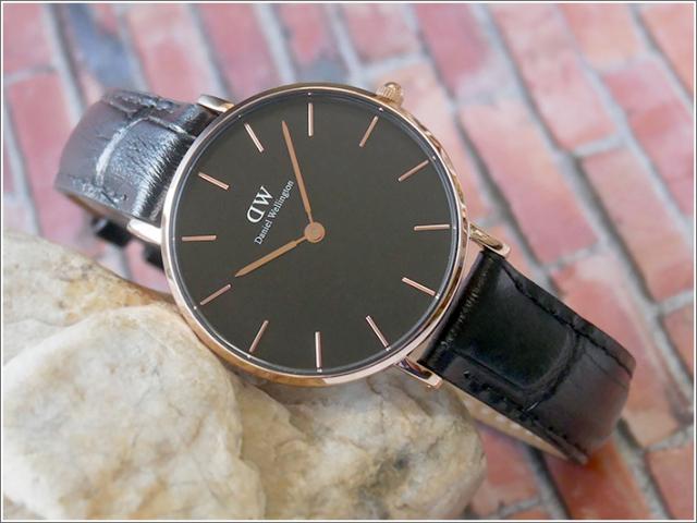 ダニエル ウェリントン DANIEL WELLINGTON 腕時計 DW00100167 DW00600167 ローズゴールド 32mm PETITE READING ペティット リーディング ブラック