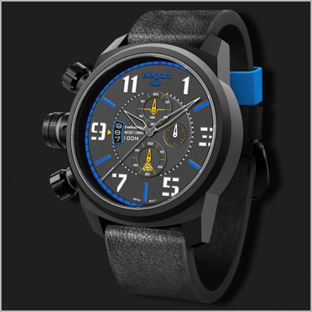 エレガントシス elegantsis 腕時計 ELJF48-OU03LC ミリタリースタイル 航空母艦モデル