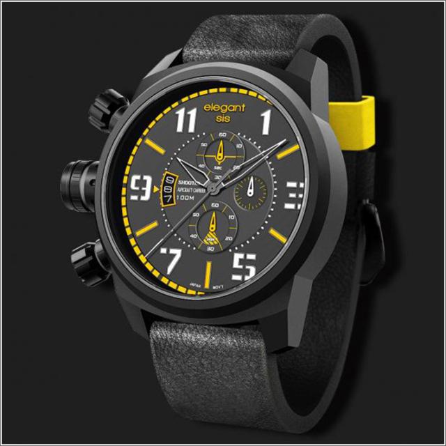 エレガントシス elegantsis 腕時計 ELJF48-OY04LC ミリタリースタイル 航空母艦モデル