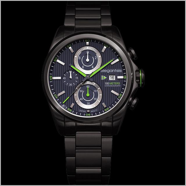 エレガントシス elegantsis 腕時計 ELJT42R-6B02MA レーシングスタイル スーパーバイクモデル