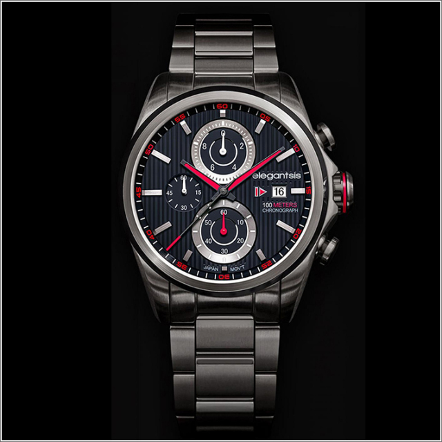 エレガントシス elegantsis 腕時計 ELJT42R-6B03MA レーシングスタイル スーパーバイクモデル