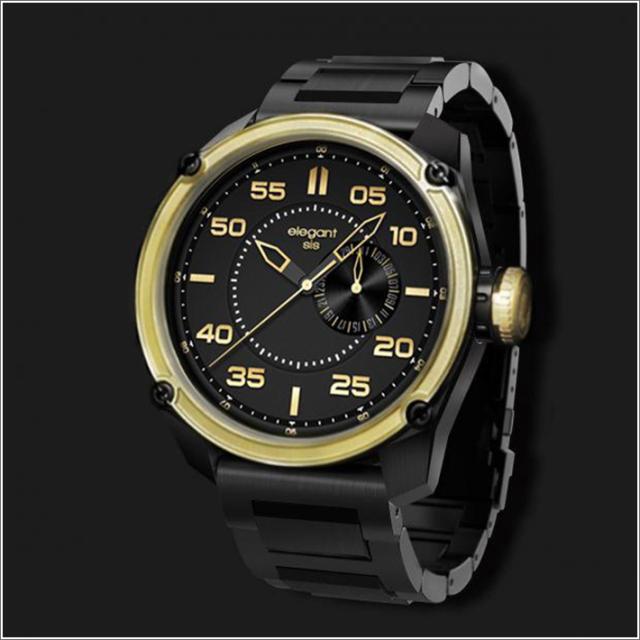 エレガントシス elegantsis 腕時計 ELJT47-PB10MA2 ミリタリースタイル ファイヤーアームモデル