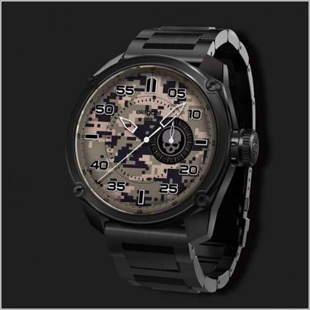エレガントシス elegantsis 腕時計 ELJT47-PC06MA ミリタリースタイル ファイヤーアームモデル デジタルカモフラージュ