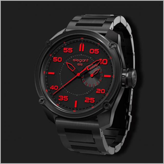 エレガントシス elegantsis 腕時計 ELJT47-PR03MA ミリタリースタイル ファイヤーアームモデル