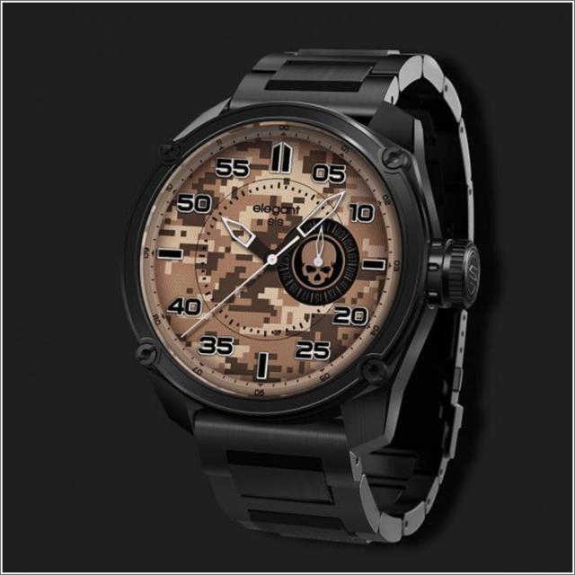 エレガントシス elegantsis 腕時計 ELJT47-PS07MA ミリタリースタイル ファイヤーアームモデル デジタルカモフラージュ