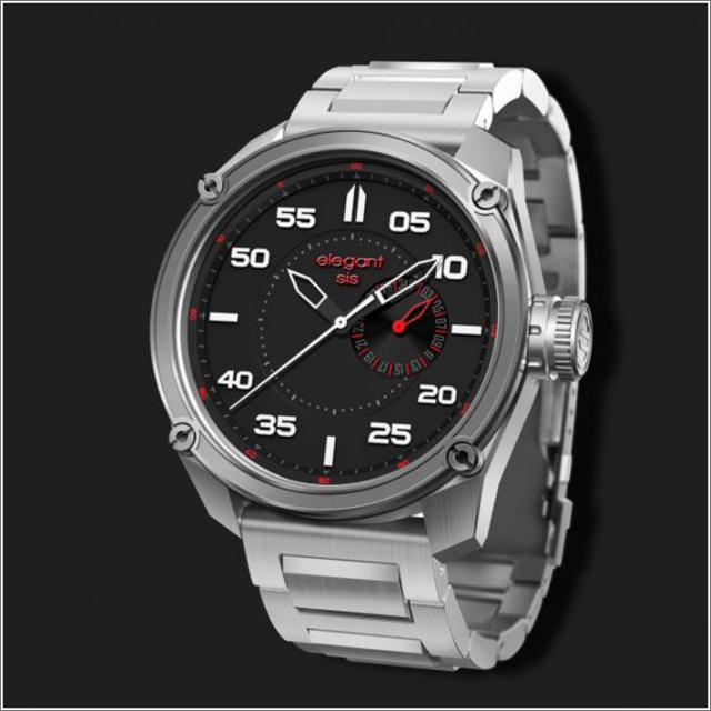 エレガントシス elegantsis 腕時計 ELJT47-PW01MA ミリタリースタイル ファイヤーアームモデル