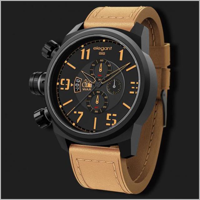 エレガントシス elegantsis 腕時計 ELJT48-OB09LC ミリタリースタイル 戦争特派員モデル
