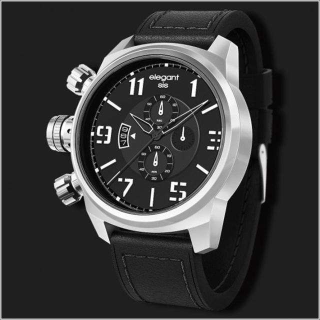 エレガントシス elegantsis 腕時計 ELJT48-OB12LC ミリタリースタイル