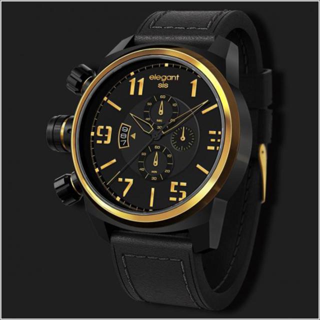 エレガントシス elegantsis 腕時計 ELJT48-OB13LC ミリタリースタイル