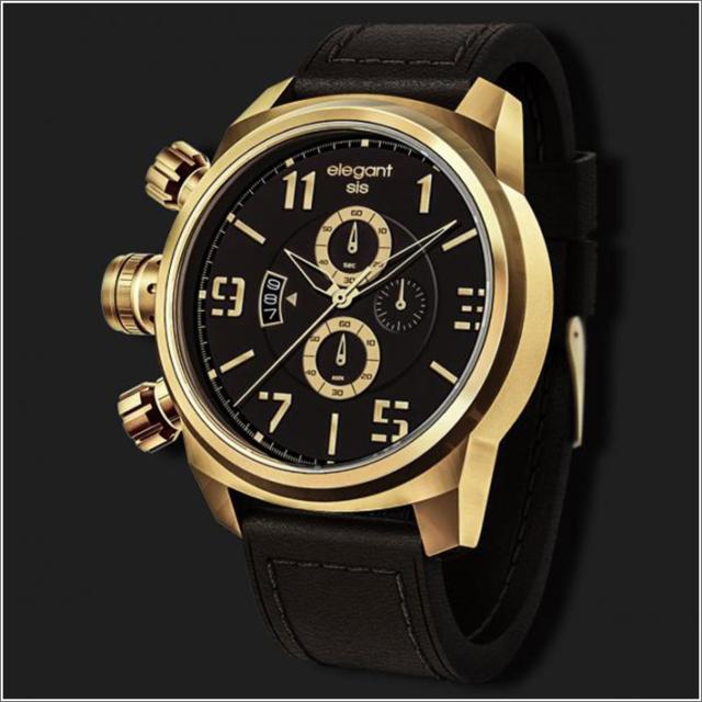 エレガントシス elegantsis 腕時計 ELJT48-OB15LC ミリタリースタイル
