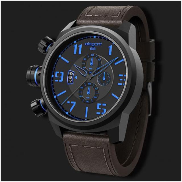 エレガントシス elegantsis 腕時計 ELJT48-OU02LC ミリタリースタイル