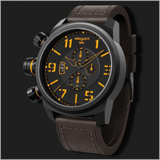 エレガントシス elegantsis 腕時計 ELJT48-OY05LC ミリタリースタイル