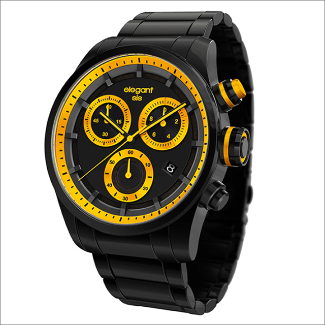 エレガントシス elegantsis 腕時計 ELJT49-JY03MA クロノグラフ メタルベルト