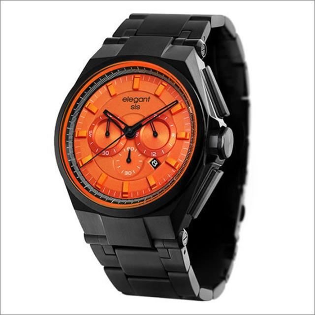 エレガントシス elegantsis 腕時計 ELJT61-OO05MA クロノグラフ メタルベルト