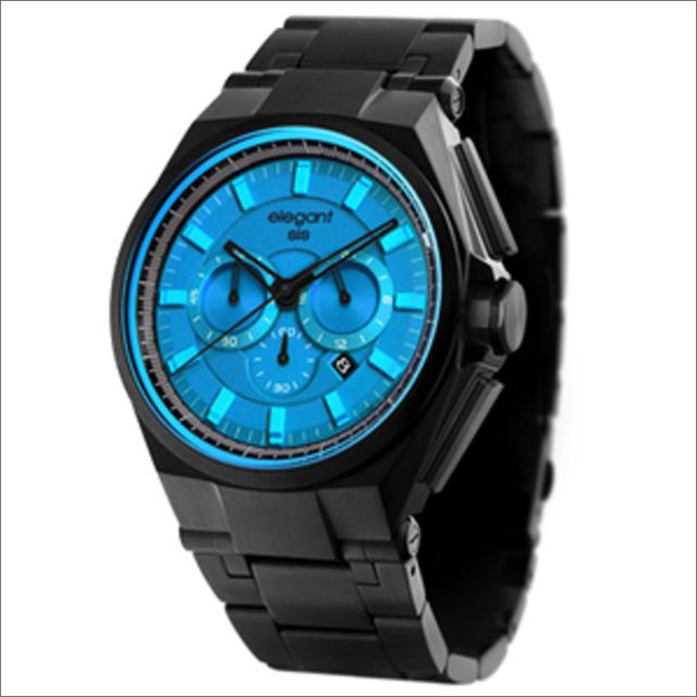 エレガントシス elegantsis 腕時計 ELJT61-OU03MA クロノグラフ メタルベルト