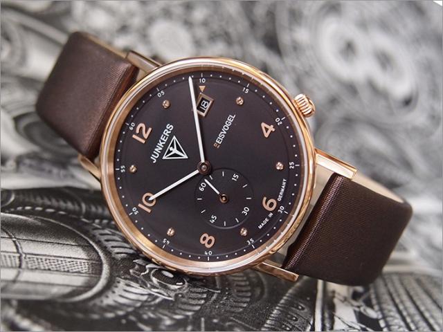 ユンカース JUNKERS 腕時計 6733-2QZ EISVOGEL クォーツ ブラウン