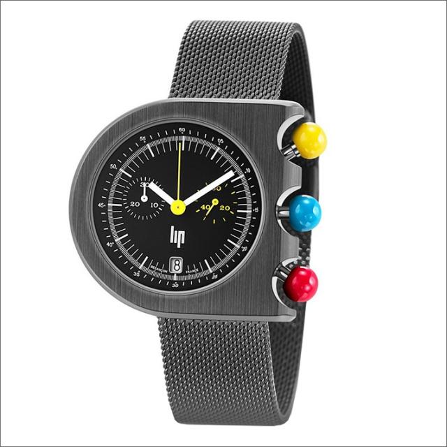 リップ LIP 腕時計 670080M マッハ2000 クロノグラフ メッシュメタルベルト クォーツ