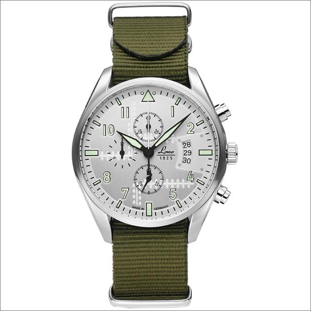 Laco ラコ 腕時計 861918GR CHRONOGRAPH Seattle シアトル クォーツ ナイロンベルト アウトレット