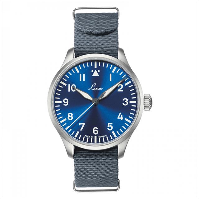 Laco ラコ 腕時計 862102 PILOT Augsburg 39 BlaueStunde アウクスブルク 39 ブラウ シュトゥンデ 機械式自動巻 ナイロンベルト