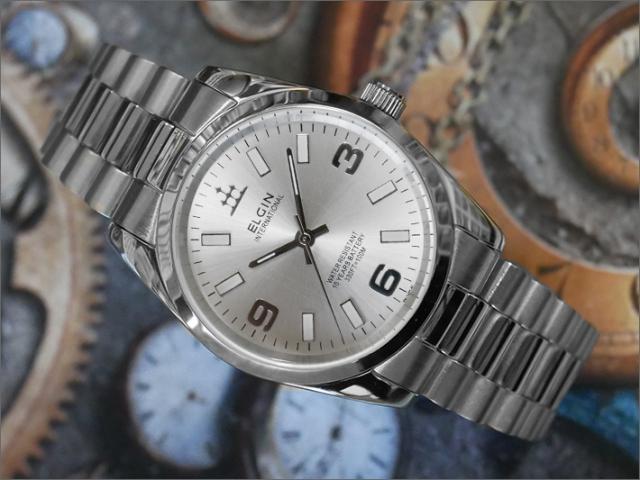 エルジン ELGIN 腕時計 3針クォーツ FK1421S-S シルバー メタルベルト
