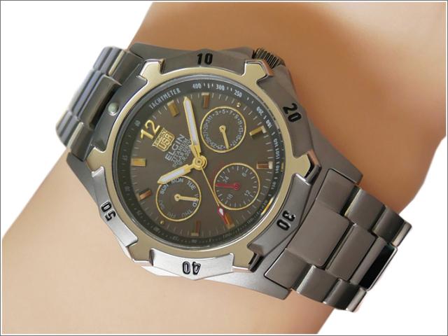 エルジン ELGIN 腕時計 クォーツ ソーラー FK1424TI-B ブラック メタルベルト