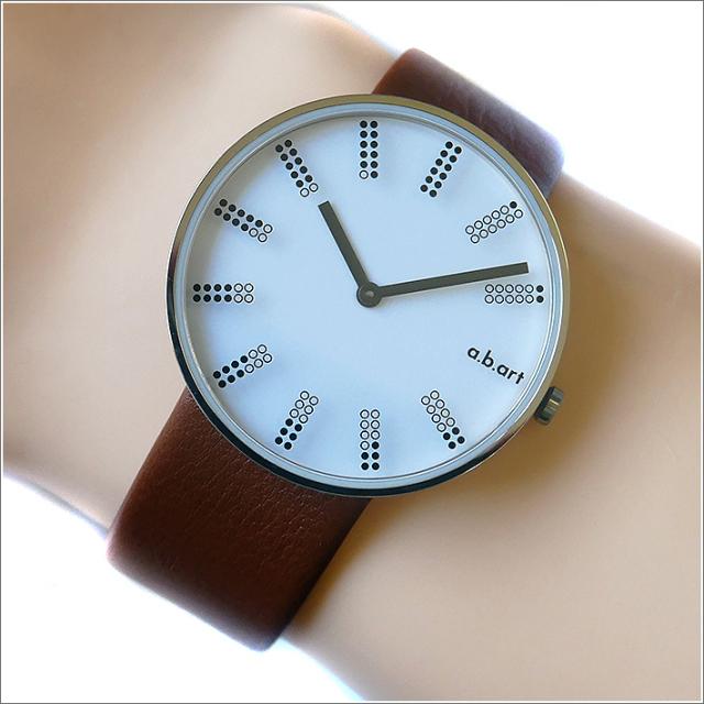 エービーアート a.b.art 腕時計 SERIES DL DL-401BR ホワイト文字盤 39mm ブラウン カーフレザーベルト クォーツ