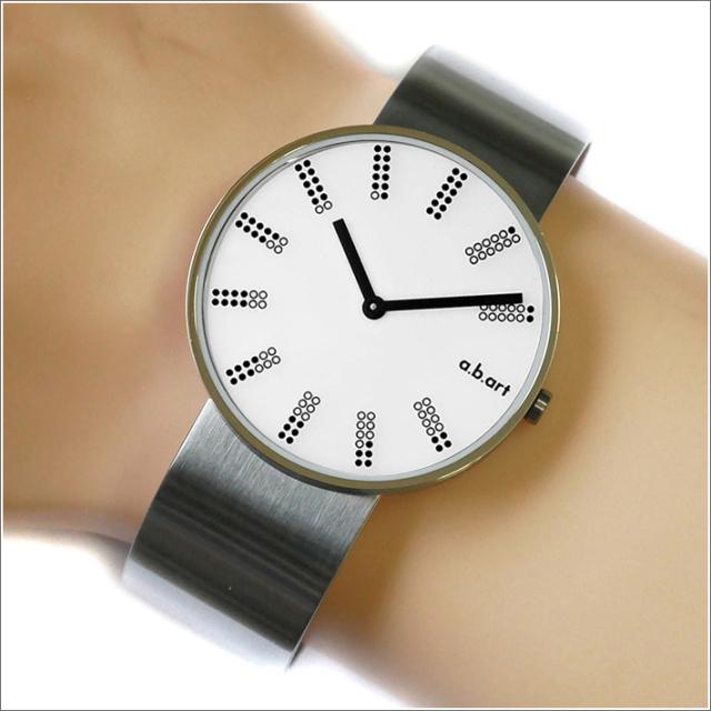 エービーアート a.b.art 腕時計 SERIES DL DL-401 ホワイト文字盤 39mm シルバー メタルベルト クォーツ