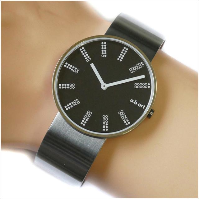 エービーアート a.b.art 腕時計 SERIES DL DL-402 ブラック文字盤 39mm シルバー メタルベルト クォーツ