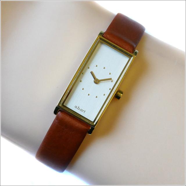 エービーアート a.b.art 腕時計 SERIES I I-520BR シルバー文字盤 29×15mm ブラウン カーフレザーベルト クォーツ
