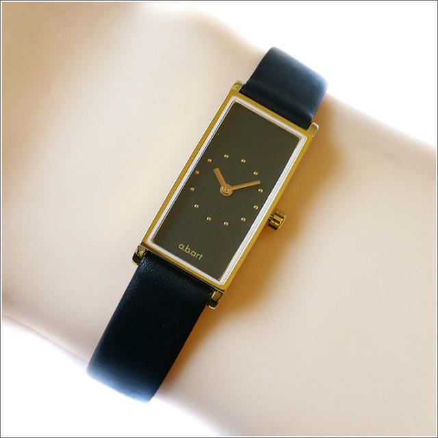 エービーアート a.b.art 腕時計 SERIES I I-521 ブラック文字盤 29×15mm ブラック カーフレザーベルト クォーツ