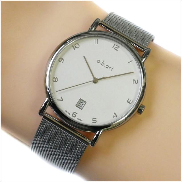 エービーアート a.b.art 腕時計 SERIES KLD KLD-107 シルバー文字盤 38mm シルバー メッシュメタルベルト クォーツ