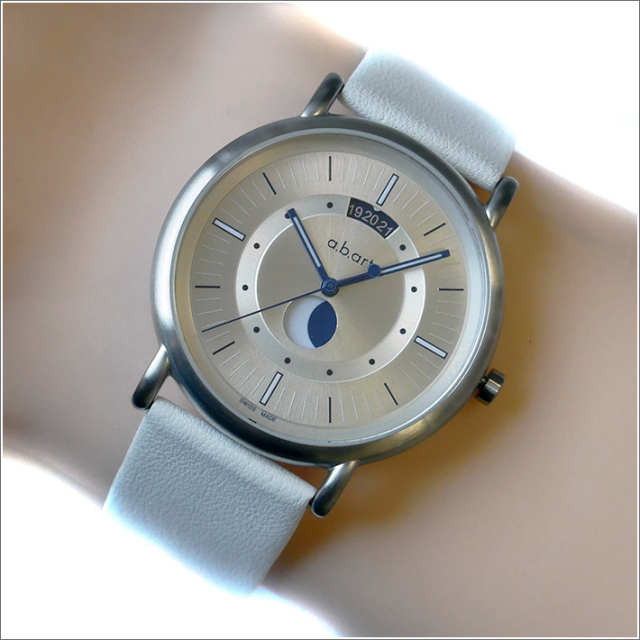 エービーアート a.b.art 腕時計 SERIES KLD KLD-201 シルバー文字盤 38mm ホワイト カーフレザーベルト クォーツ