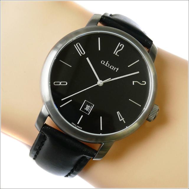 エービーアート a.b.art 腕時計 SERIES MA MA-102 ブラック文字盤 44mm ブラック カーフレザーベルト 機械式自動巻
