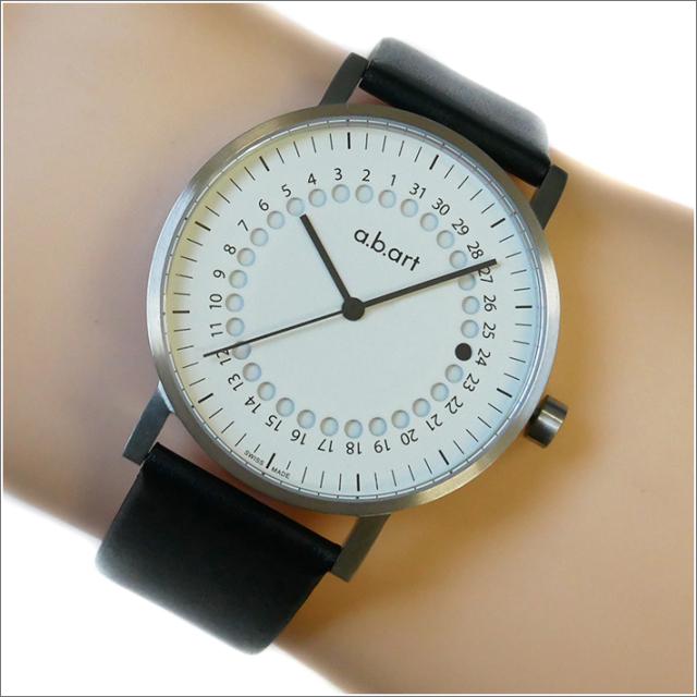 エービーアート a.b.art 腕時計 SERIES O O-101(W) ホワイト文字盤 41mm ブラック カーフレザーベルト クォーツ